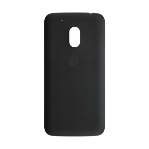Rear Battery Cover - Pitch Black For Motorola Moto G4 and G4 Plus