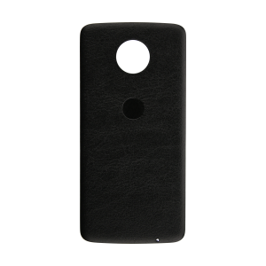 Back Cover (Black) (Leather) For Motorola Moto Z Droid