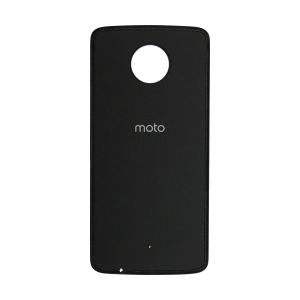 Back Cover (Black) (Leather) For Motorola Moto Z Force Droid