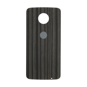 Back Cover - Charcoal Ash (Wood) For Motorola Moto Z Force Droid