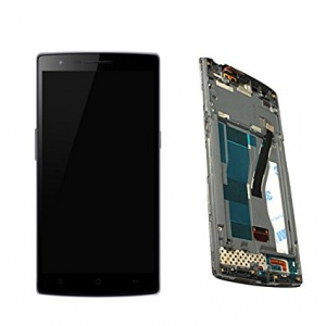 Display Assembly (LCD and Touch Screen) with Frame For OnePlus One