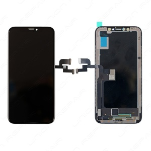 Display Assembly with Frame - Black/Silver For OnePlus X