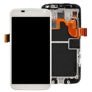 Display Assembly with Frame (White) For Motorola Moto X (2nd Gen)