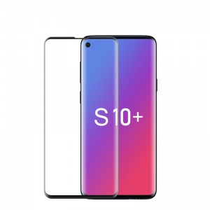 Tempered Glass Screen Protector For Samsung Galaxy S10 Plus (Black)