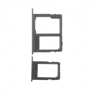 SIM CARD TRAY  (Black) For Samsung Galaxy J8 J810