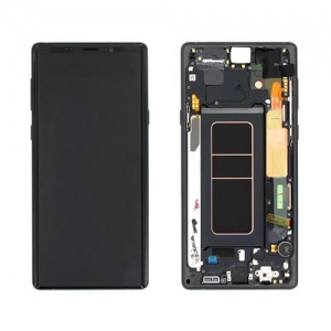 Screen Assembly with Frame (Black) For Samsung Galaxy Note 9 (Service Pack)
