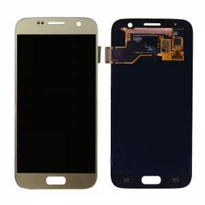 LCD Assembly For Samsung Galaxy S7 (Service Pack) (Gold)
