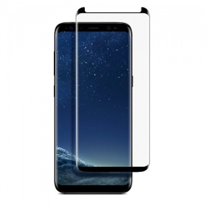 Tempered Glass Screen Protector For Samsung Galaxy S8 (Black)