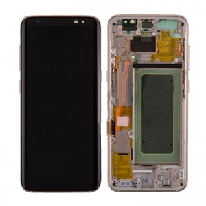 LCD Assembly With Frame For Samsung Galaxy S8 (Gold)