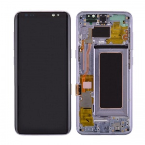 LCD Assembly With Frame (Purple) For Samsung Galaxy S8
