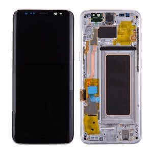 LCD Assembly With Frame (Silver) For Samsung Galaxy S8