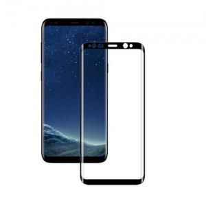 Tempered Glass Screen Protector For Samsung Galaxy S9 (Black)
