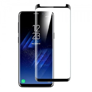 Tempered Glass Screen Protector For Samsung Galaxy S9 Plus (Black)