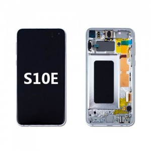 LCD Assembly with Frame for Samsung Galaxy S10e (Silve)
