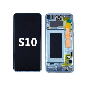 LCD Assembly with frame for Samsung Galaxy S10 (Blue)