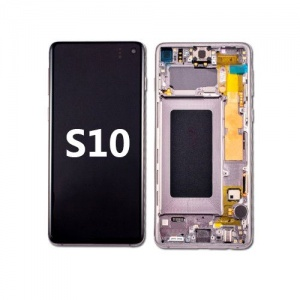 LCD Assembly with frame for Samsung Galaxy S10 (Pink)