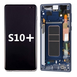 LCD Assembly with frame for Samsung Galaxy S10 Plus (Blue)
