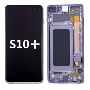 LCD Assembly with frame for Samsung Galaxy S10 Plus (Pink)