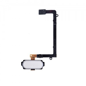 Home Button With Flex Cable (White) For Samsung Galaxy S6 Edge