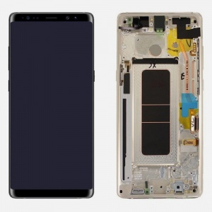 Screen Assembly with Frame (Gold) For Samsung Galaxy Note 8