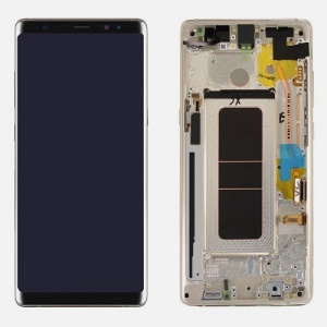 Screen Assembly with Frame (Gray) For Samsung Galaxy Note 8 (Service Pack)