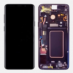 Screen Assembly with Frame (Purple) For Samsung Galaxy Note 9 (Service Pack)