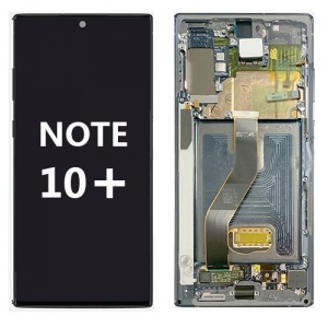 LCD Assembly with frame for Samsung Galaxy Note 10 Plus (Silver)