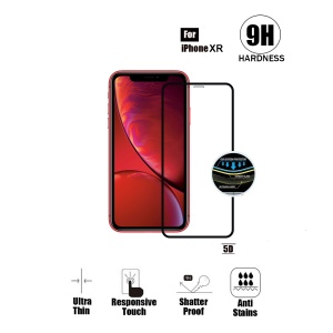 Tempered Glass For iPhone XR (6.1 inch) - 5D Curve (Black)