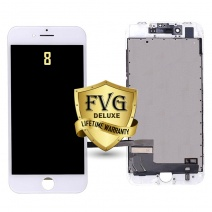 LCD Assembly For iPhone 8 (Deluxe Quality Aftermarket, Made By FVG) (White)