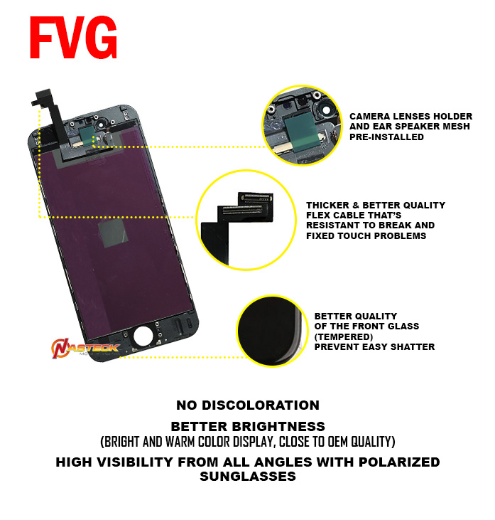 FVG LCD For 6 Plus LCD OEM Replacement (5.5 inch) - Black