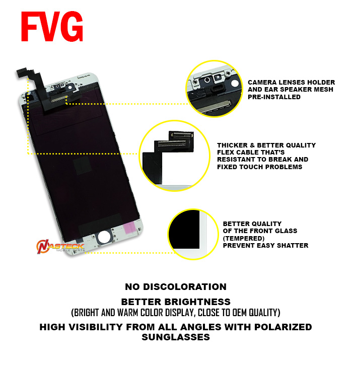 FVG LCD For 6 Plus LCD OEM Replacement (5.5 inch) - White